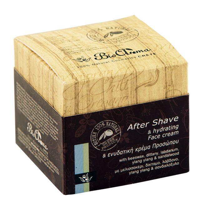 Aftershave hydratační krém pro muže s diktamem, ylang-ylang a santalovým dřevem