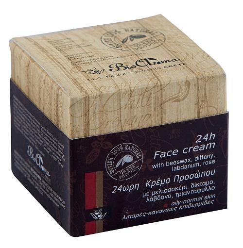 24h krém  pro normální - mastnou pleť. S jojobovým olejem, růží a ylang-ylang