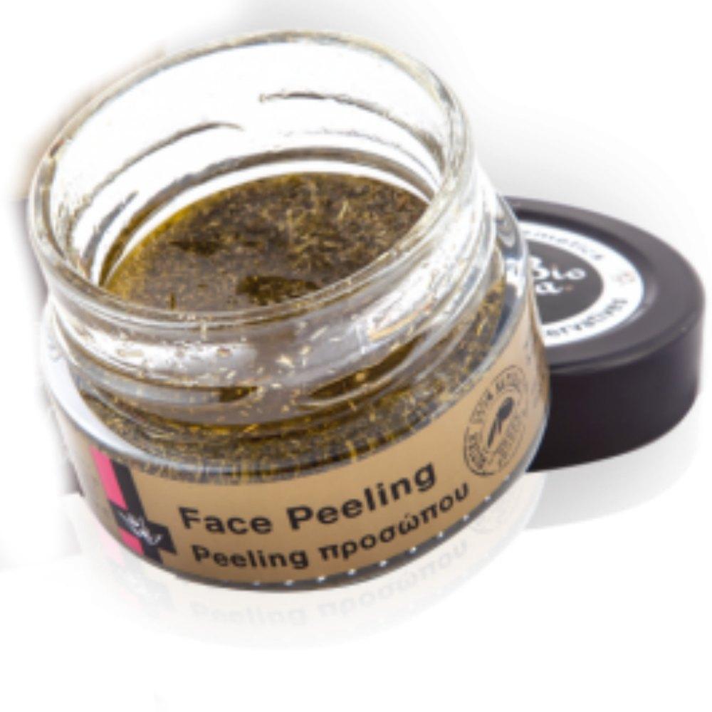 Peeling s levandulovými zrníčky, olejem z hroznových jader a esenciálním olejem